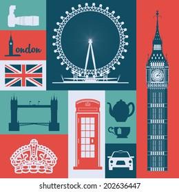 London design over colorful background, vector illustration