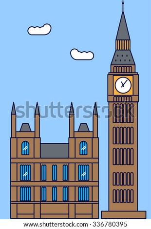 cf8a27520 London England Big Ben Tower Vector Stock Vector (Royalty Free ...