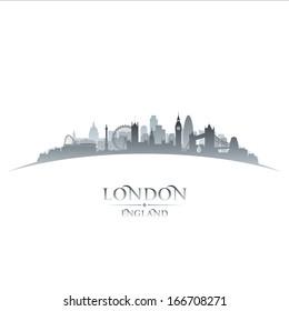 London England city skyline silhouette. Vector illustration