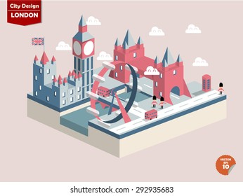 London England,London city design in perspective,cute design of london city