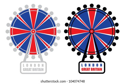 London eye - vector symbol