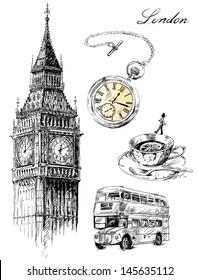 London illustration set