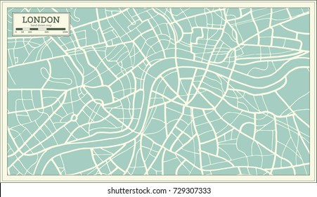 London Map in Retro Style. Vector Illustration.