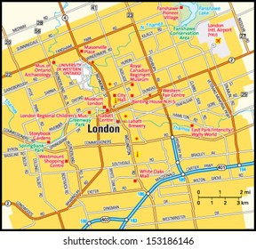 London, Ontario area map