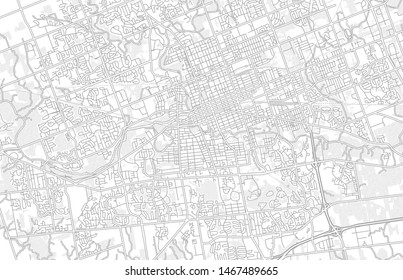 London, Ontario, Canada, bright outlined vector map with bigger and minor roads and steets created for infographic backgrounds.