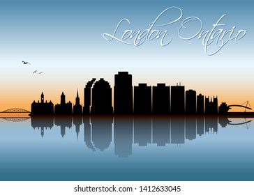 London Ontario skyline Canada - vector illustration
