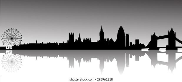London panorama vector