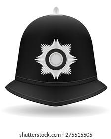 London police helmet vector illustration isolated on white background
