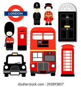 LONDON Popular icons of LONDON, the capital city of ENGLAND or united Kingdom.