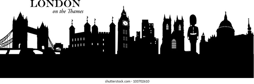 London Skyline Silhouette Images Stock Photos Vectors 10 Off
