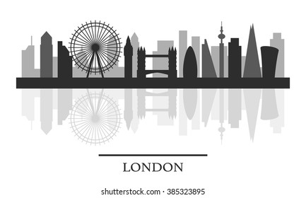 London black and white stock illustrations images vectors london skyline black and white stylish silhouette vector illustration altavistaventures Image collections