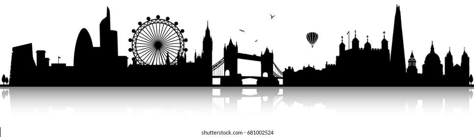 london skyline silhouette black