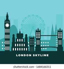 London skyline silhouette. Vector illustration.