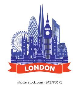London Skyline. Vector illustration