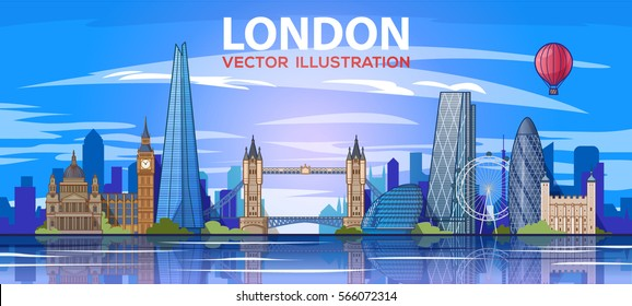 london skyline. Vector illustration. City landscape