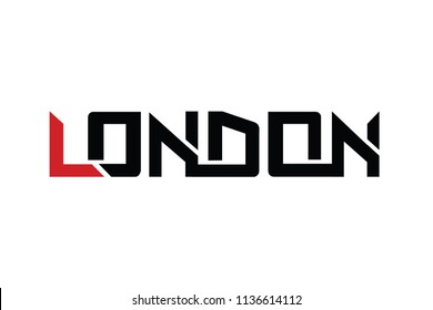 London typography design vector, for t-shirt, poster and other uses