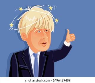 London, UK, September 5, 2019, Boris Johnson Vector Caricature