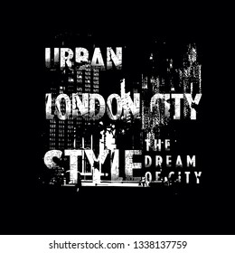 london urban abstrack images tee element graphic t shirt print vector illustration design