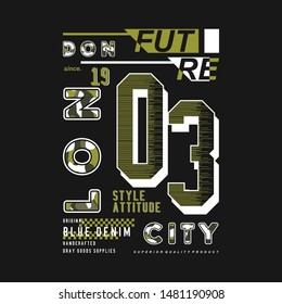 london urban style graphic typography design t shirt