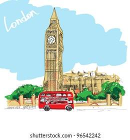 london vector illustration.