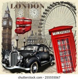London vintage poster.