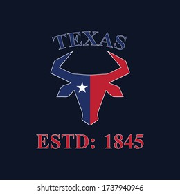 The lone star state Texas Logo for t-shirt