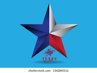 The Lone Star Texas Logo design concept, Vector EPS 10.