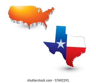 lonestar state orange united states icon