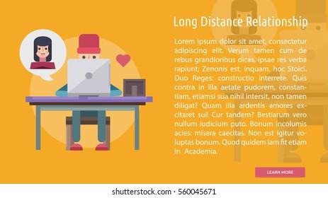 Long Distance Relationship Conceptual Banner
