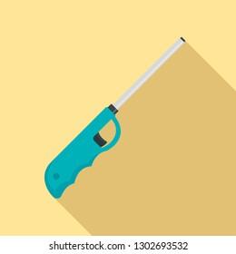 Long electric lighter icon. Flat illustration of long electric lighter vector icon for web design