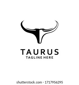 Long Horn Bull Buffalo Cow Cattle Head Toro Taurus logo design inspiration