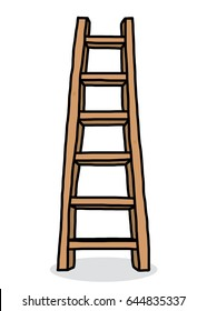 long ladder / cartoon vector and illustration, hand drawn style, isolated on white background.