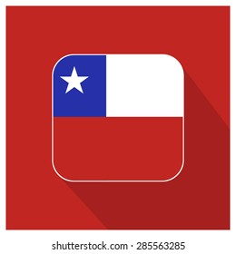 Long shadow Chile flag Button