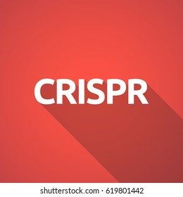 Long shadow illustration of  the clustered regularly interspaced short palindromic repeats acromym CRISPR