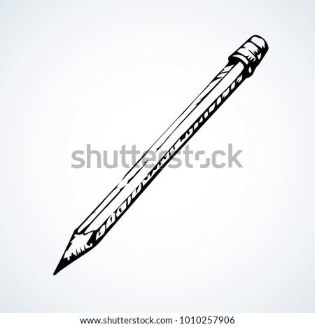 Long Sharp Chalk Rod Sin Wood Stock Vector Royalty Free 1010257906