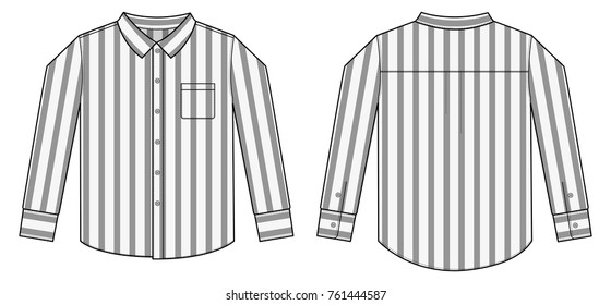 long sleeve business shirt illustration / stripe