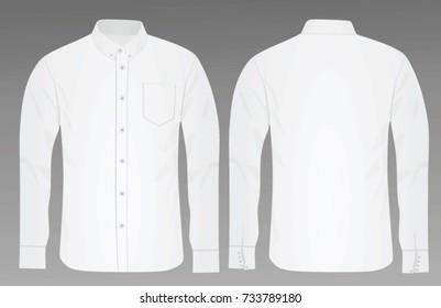 Long sleeve shirt. vector illustration