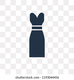Long Sleeveless Dress vector icon isolated on transparent background, Long Sleeveless Dress transparency concept can be used web and mobile