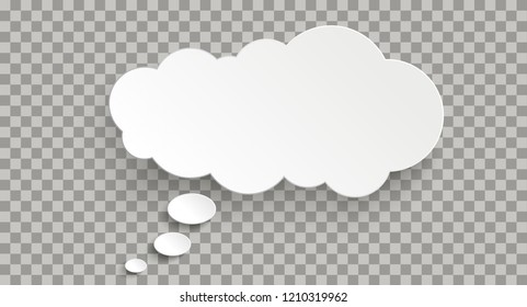 Long thought bubble on the checked background. Eps 10 vector file.
