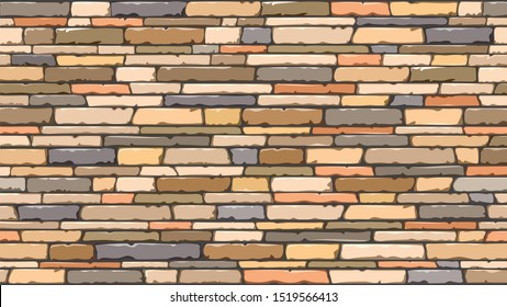 a long wall of long natural colored stones