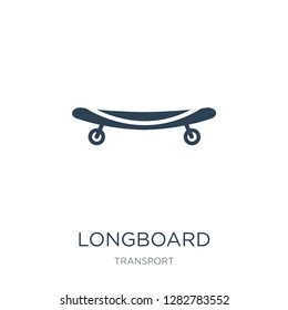 longboard icon vector on white background, longboard trendy filled icons from Transport collection, longboard vector illustration