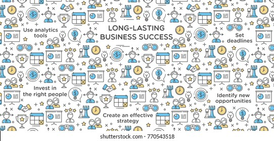 Long-Lasting Business Success Vector Illustration