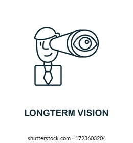 Longterm Vision icon from global business collection. Simple line Longterm Vision icon for templates, web design and infographics