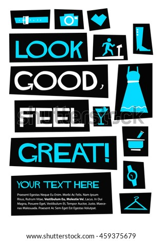 Look Good Feel Great Flat Style Stock Vector Royalty Free