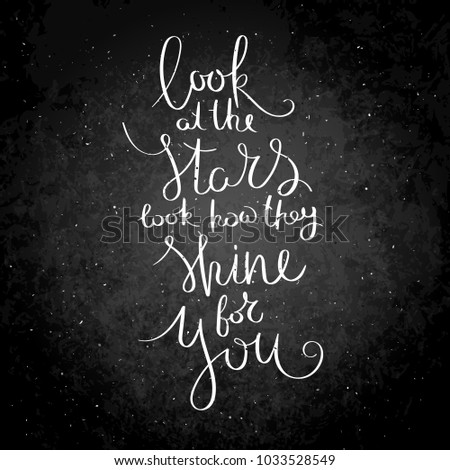 Look Stars Look How They Shine Stock Vector Royalty Free