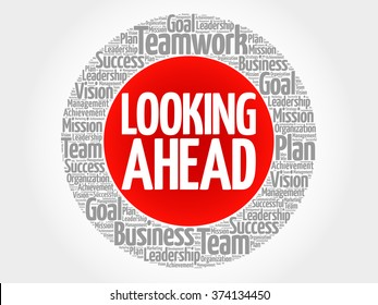 Looking ahead images stock photos vectors shutterstock looking ahead circle word cloud business concept thecheapjerseys Images