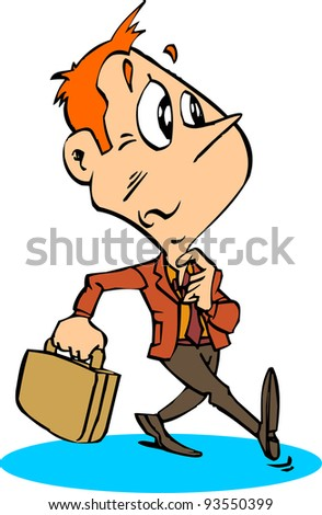 Looking Job Man Stock Vector Royalty Free 93550399 Shutterstock