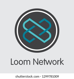 LOOM - Loom Network. The Market Logo or Emblem of Crypto Coins, Market Emblem, ICOs Coins and Tokens Icon.