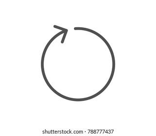 Loop arrow line icon. Refresh Arrowhead symbol. Navigation pointer sign. Quality design element. Editable stroke. Vector