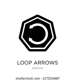loop arrows icon vector on white background, loop arrows trendy filled icons from Arrows collection, loop arrows simple element illustration